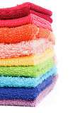 Rainbow Colored Towels