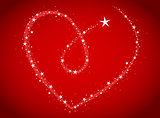 love bright stars in heart shape