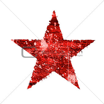Abstract star on a white background