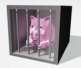 pink piggy is jailed