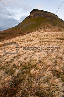 Autumn landscape Pen-y-Ghent in Yorkshire Dales National Park