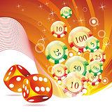 Vector illustration on a casino theme