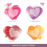 Hearts speech bubbles