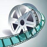 vector realistic 3d film reel