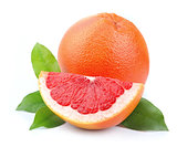 Grapefruit with leaves