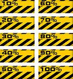 vector grunge danger percent banner
