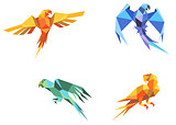 Origami parrots