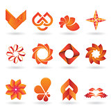 Contemporary Orange Logo and Icon Collection