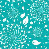 Turquoise Floral Seamless Pattern