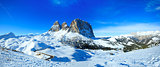 Beautiful winter mountain panorama.