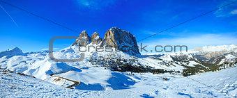 Beautiful winter mountain panorama.