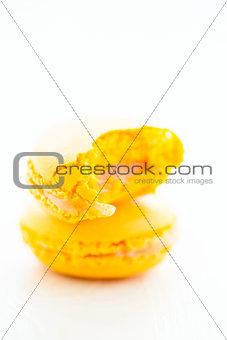 Yellow lemon macaroons