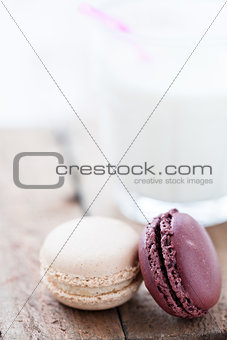 Macaroons and milk