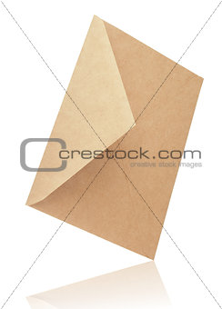 Mail envelope on white