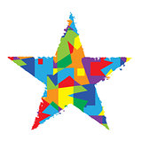 Abstract color star