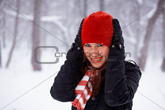 Young woman outdoor in winter