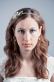 Portrait of young bride