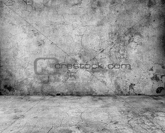 gray concrete wall and floor closeup