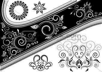 Canvas with a pattern and details for design
