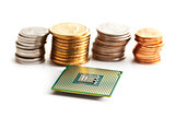 computer processor and coins