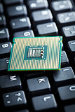 computer processor on computer keyboard