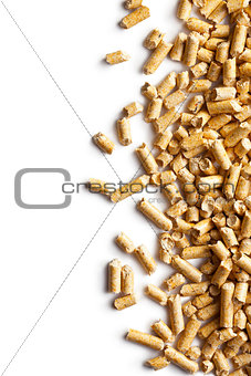 Wooden pellets -bio fuel.