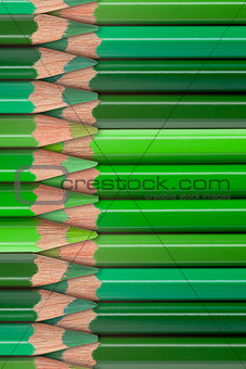 green pencils background