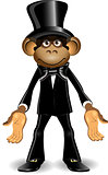 Monkey in a top hat