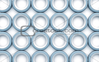 abstract circles as technology background