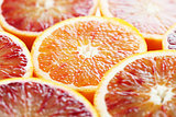 Blood orange close up