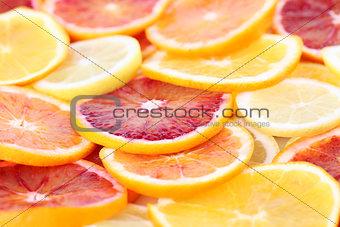 Citrus fruits background