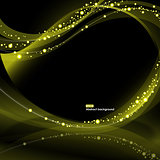 Abstract EPS10 olive glowing waves background
