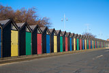 Beach Huts, Lowestoft, Suffolk, England