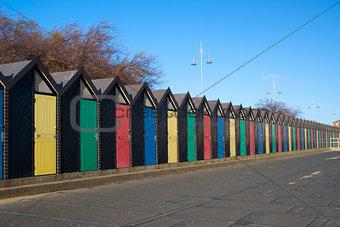 Beach Huts, Lowestoft, Suffolk, England