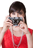 Lady Holding a Camera