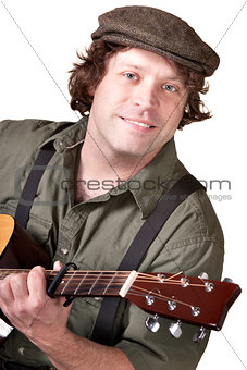 Smiling Guitar Player