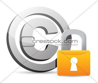 copyright with padlock protection