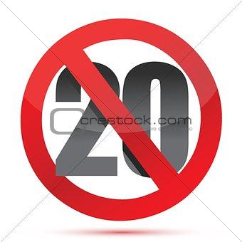 Under twenty sign