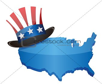 US Top Hat – Uncle Sam and map