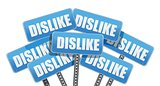 dislike like Social media networking concept