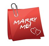 Marry Me written on a post it