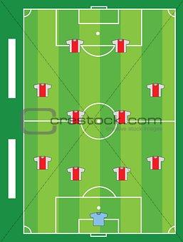 Soccer field team