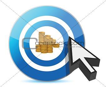 blue target golden dollar coins
