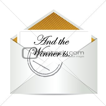Award winner envelope concept