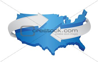 us map changing concept