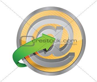 at button concept
