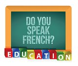 &quot;Do you speak French?&quot; board