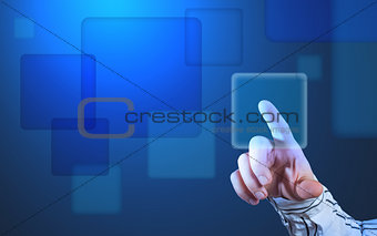 Futuristic touch screen display