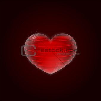 Sliced heart