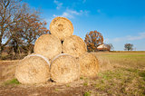 Straw bales pyramid